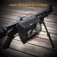 XAegis Brass Catcher Universal Shell Catcher Net with Picatinny Rail Mount Heat Resistant Mesh Brass Collection for Rifle Range