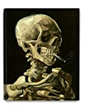 DecorArts - Head of a Skeleton with a Burning Cigarette. Vincent Van Gogh Reproductions. Giclee Print for Wall Decor. 16x20""