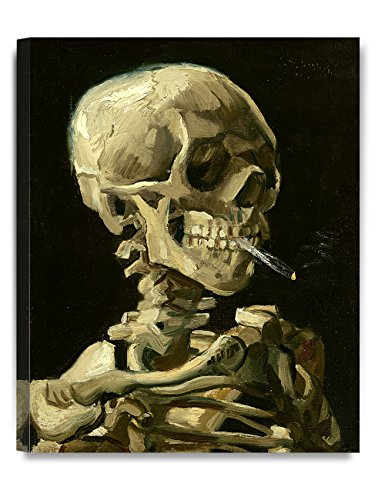 DECORARTS - Head of a Skeleton with a Burning Cigarette. Vincent Van Gogh Reproductions. Giclee Print for Wall Decor. 16x20 (Cigarettes Poster)