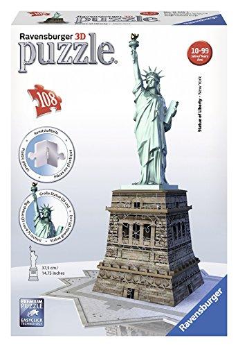 Ravensburger 12584 - 3D Puzzle Bauwerke Freiheitsstatue