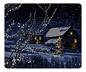 CYBER MONDAY 2015 Happy New Year Gaming Mouse Pad Christmas Night 4 Anti Slip Comfort Mouse Pads Marry Christmas Gift