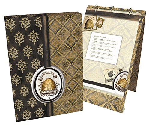 Lang 2016003 Honey & Grey Vertical Recipe Card Album by Lori Siebert, Assorted