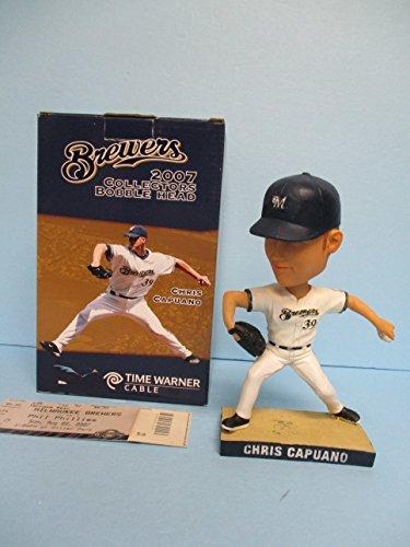(2007 Milwaukee Brewers Chris Capuano Baseball Bobblehead SGA)
