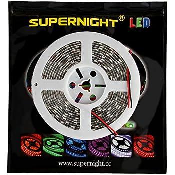 Amazon Com Supernight Dc12v 5m 16 4ft Cool White 5050smd