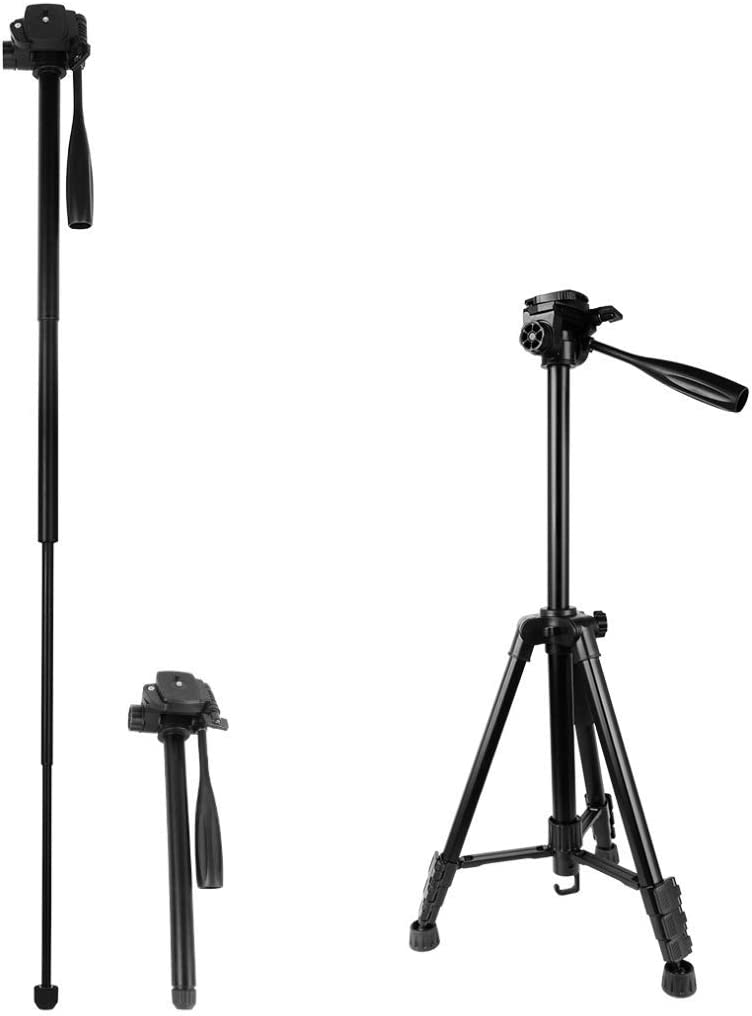 Suitable for Cameras and Recorders 3D Pan//tilt Up to 1465mm Professional Camera Stand Set Portable Light Weight Camera Tripod