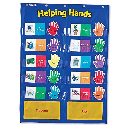 Wide Teachers Learning Center - Learning Resources Helping Hands Pocket Chart, Classroom Organization, Ages 5+