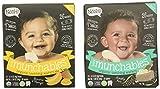 mango rice - Nosh Baby Munchables Teethers Organic Rice Teething Wafers, 26 Piece, Sampler Pack (Pack of 2), Simply Rice & Banana Mango