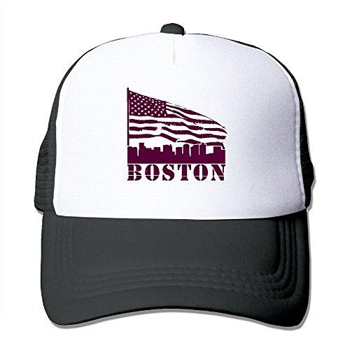 Skull Head City Stick - LLiYing-D Boston City View American Flag Adult Trucker Mash Headgear