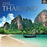 2019 Wall Calendar - 2019 Thailand Calendar, 12 x 12 Inch Monthly Calendar, 16-Month, Travel and Destination Theme, Includes 180 Reminder Stickers