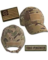 Threeper Tactical Hat & Patch Bundle (2 Patches + Hat) - Multicam