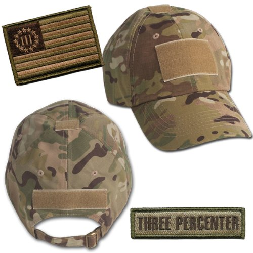 Amazon.com  Threeper Tactical Hat   Patch Bundle (2 Patches + Hat ... 8af3b2c40df