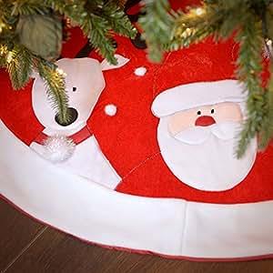 """48"""" Velvet Santa Snowman Reindeer Tree Skirt"""