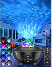 Star Projector, 3 in 1 Galaxy Projector Night Light Projector w/LED Starlight Projector with Bluetooth Music Speaker for Baby Kids Bedroom/Game Rooms/Home Theatre/Night Light Ambiance (White)