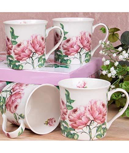 Roses Bone China/Mugs Set of 4