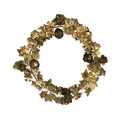 Creative Co-Op Gold Metal Leaf Wreath