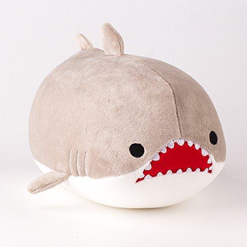 Marine Animale Séries-Grand Requin Blanc Peluche 20CM, 1 Pièce, Gris