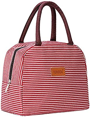 34d0cb6b0a27 Lunch Bag Insulated Lunch Box Reusable Lunch Tote Cooler Organizer Bag  Lunch Bags for Women(Red)