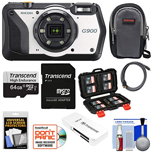 - Ricoh G900 Industrial-Strength Waterproof & Shockproof Digital Camera with 64GB Card + Case Kit