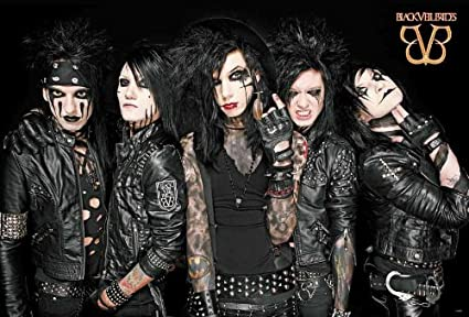 Amazon com: Black Veil Brides Glam Metal Band Music Poster
