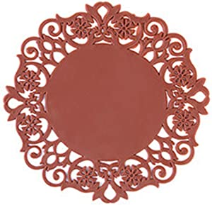 2020 Silicone Drink Coasters, Coffee Mug Coasters for Office, Home, Coasters for Hot Pots and Pans, Anti-slip Cup Coasters Protect Furniture and Table, Round Coaster, Silicone mat for dinner - BROWN