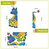 lovely dinosaurs wall stickers for door decorations adesivos de paredes home decals 3d