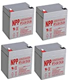 NPPower NP12-4.5Ah 12V 4.5Ah SLA Sealed Lead Acid Battery F1 Style Terminals/(4pcs)