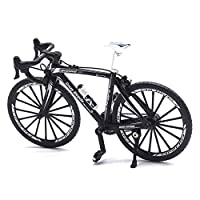 Gnc33Ouhen 1/10 Simulation Alloy Racing Bike Road Bicycle Model Toy Gift Showcase Decoration Gift Kids Toy Hobby Model - Black