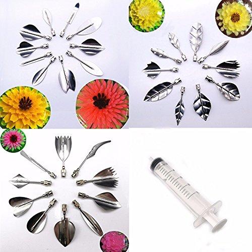 30 PCS/SET Flowers Leaves 3D Jelly Art Tools Cake Jello art Gelatin Tools pudding nozzle by Darnell Nehemiah