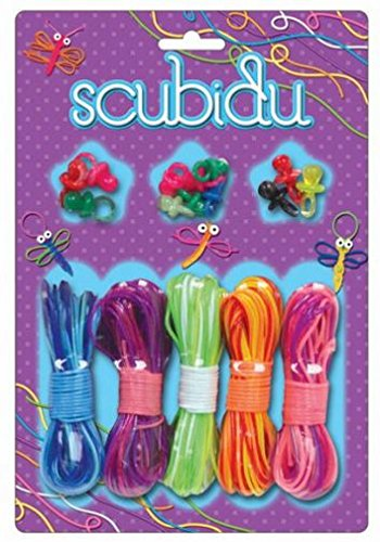 Scubidu Fashion Strings Set ~ Scoubidou Scoobies Kit with 5 Rope Bundles and 12 Dummies by Carousel