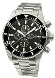 Davis-Mens Luxury Sport Diving Watch-Chronograph-Sapphire Glass-Waterresistant 200M-Steel Strap