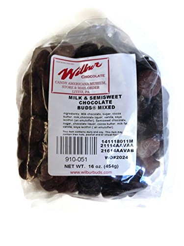 Wilbur Buds Milk & Semisweet Dark Chocolate Buds Mixed, 16 oz. Bag (Wilbur Chocolate Buds compare prices)