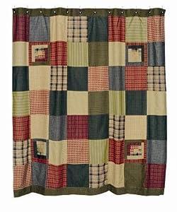 Tea Cabin Shower Curtain Rustic Primitive Lodge 100% Cotton