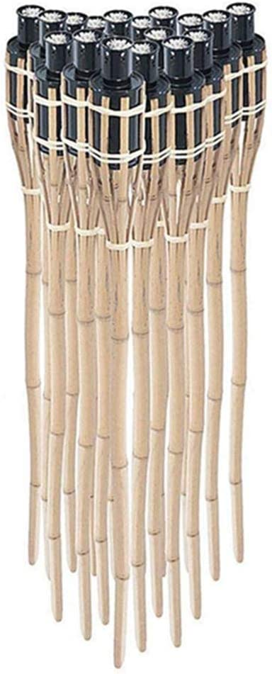 ectxo 18 x bambú antorcha antorcha de jardín bambú antorcha Antorchas de jardín jardín decoración 90 cm: Amazon.es: Jardín