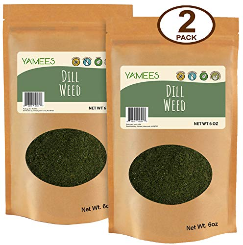 - Yamees Dill Weed - Dill Weed Spice - Dried Dill - Bulk Spices - 2 Pack of 6 Ounce Each