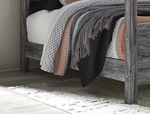 Ashley Furniture Signature Design - Baystorm King Poster Rails (Bed Oak King Poster Size)