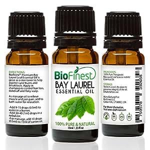 BioFinest Bay Laurel Oil - 100% Pure Bay Laurel Essential Oil - Boost Mental Alertness, Fight Fatigue - Premium Quality - Therapeutic Grade - Best For Aromatherapy - FREE E-Book (10ml)