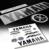 yamaha raider fender - Full Fairing / Fender Sticker & Emblem Decal for Yamaha YZF-R6 (Black / Chrome)