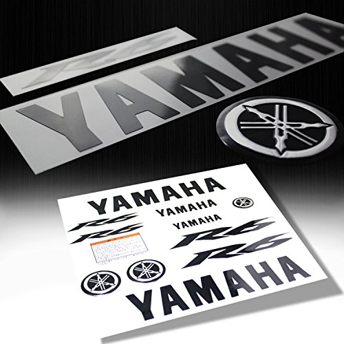 Full Fairing / Fender Sticker & Emblem Decal for Yamaha YZF-R6 (Black / Chrome)