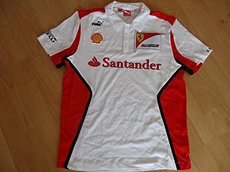 Ferrari Puma F1 Polo Camiseta Blanco Vettel tamaño L: Amazon.es ...