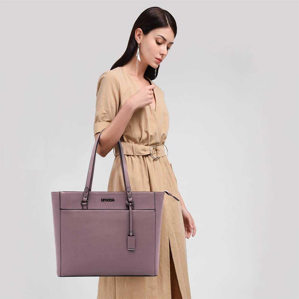 Laptop Bag for Woman,13-15.6 Inch Laptop Tote Bag Briefcase with Padded Compartment, Best [Purple] by UMODA (Image #7)