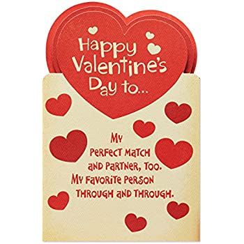 Amazon hallmark valentines day greeting card for husband red american greetings perfect match valentines day card for husband with attachments m4hsunfo