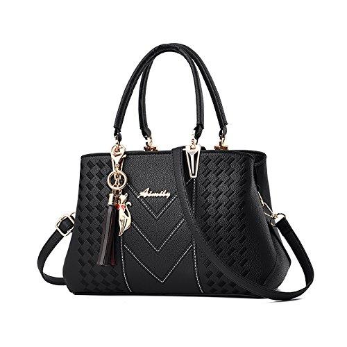 Tisdaini borsetta borse bag eleganti in pelle borsa tracolla donna saldi on line Nero