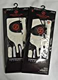 2 Zero Friction Men's Golf Gloves, One Size, Left Hand, White