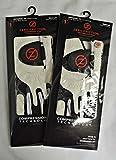 2 Zero Friction Men's Golf Gloves, One Size, Left Hand, White