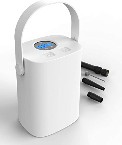 EASY EAGLE Compresor de Aire Port/átil Coche Bomba de Inflado El/éctrica con Indicador de Presi/ón LCD Digital de 150PSI 2000mAh Bater/ía de Litio 25 litros//Min