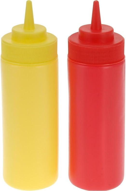 Squeeze mit Hut FXCO Kunststoff-Spender f/ür Squeeze-Flasche Ketchup-Kleber Kunststoff Industrieklebstoff
