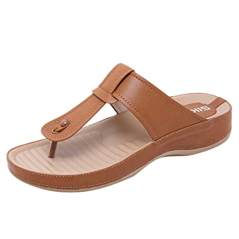 42b0e5144 Image Unavailable. Image not available for. Color  Hopwin Women Summer Flat  Flip Flop ...