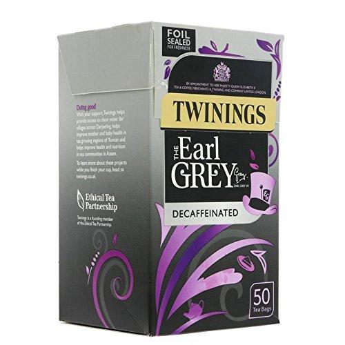 (2 Pack) - Twinings - Earl Grey Decaffeinated | 50 Bag | 2 PACK BUNDLE