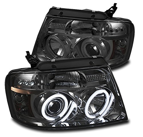 ZMAUTOPARTS Ford F150 Pickup Truck Dual CCFL Halo LED Projector Headlights Lamp (Ccfl Halo Projector Headlights Lamps)