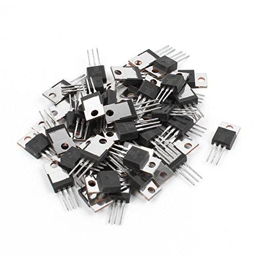 100 Piece Uxcell a11102000ux0360 2N3904 Three Terminal Through Hole NPN Transistors